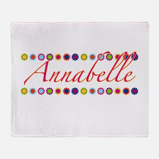 Annabelle with Flowers Throw Blanket