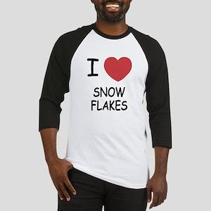 I heart snow flakes Baseball Jersey