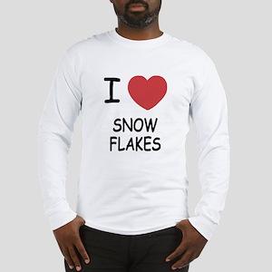 I heart snow flakes Long Sleeve T-Shirt