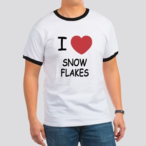 I heart snow flakes Ringer T