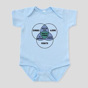Aliens vs Zombies vs Robots Infant Bodysuit
