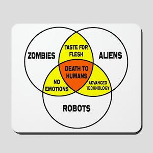 Aliens vs Zombies vs Robots Mousepad