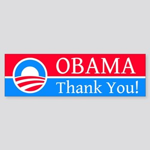 Obama Thank You: Bumper Sticker