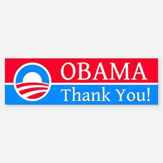 Obama Thank You: Bumper Bumper Bumper Sticker