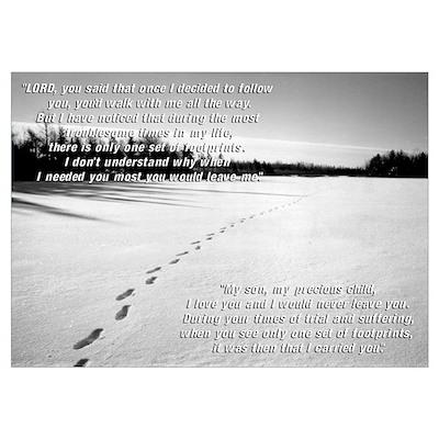 Footprints (Edited Text) Poster