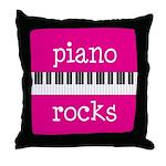 Piano Rocks Music Instrument Throw Pillow