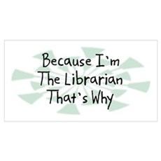 Because Librarian Poster