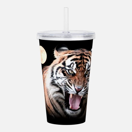 Tiger Moon Acrylic Double-wall Tumbler
