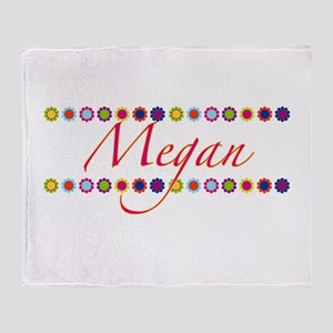 Megan with Flowers Throw Blanket