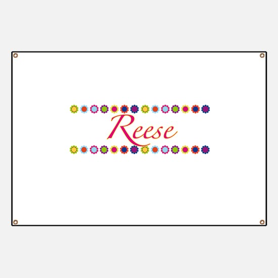 Reese with Flowers Banner