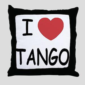 I heart tango Throw Pillow