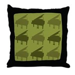 Piano Graphic Music Throw Pillow