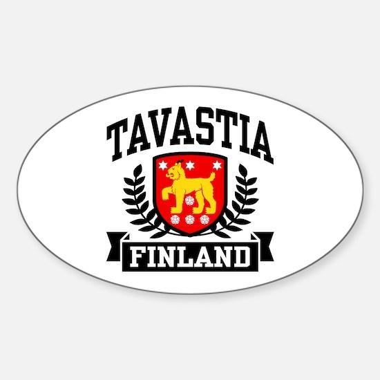Tavastia Finland Sticker (Oval)