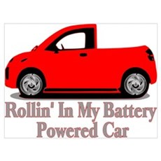 Battery Powered Car Poster