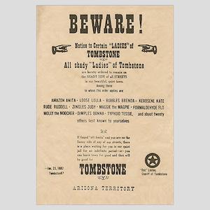 Shady Ladies Tombstone Warning Sign