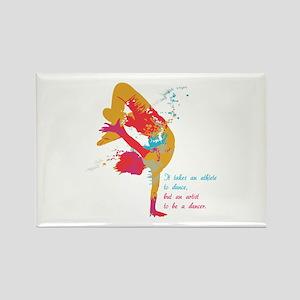 Dancer - Artist Rectangle Magnet