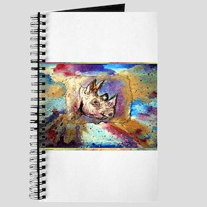 Wildlife, rhino, art, Journal