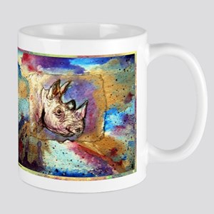 Wildlife, rhino, art, Mug