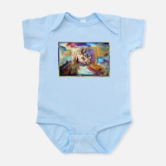 Wildlife, rhino, art, Infant Bodysuit