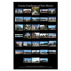 County Courthouses of New Mexico MiniPrint Poster