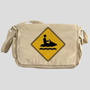Warning : Jetski Messenger Bag