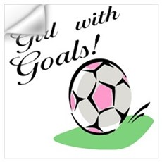Girl with Goals Wall Decal