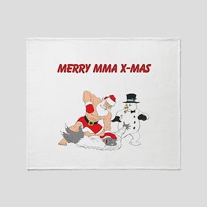 MMA Santa Throw Blanket