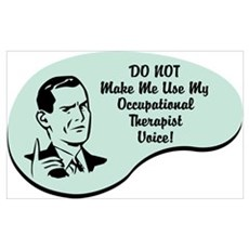 Occupational Therapist Voice Framed Print