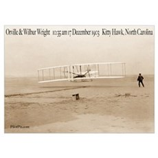 Wright Bros First Flight Poster