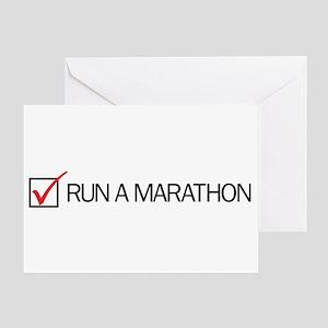 Run a Marathon Check Box Greeting Card