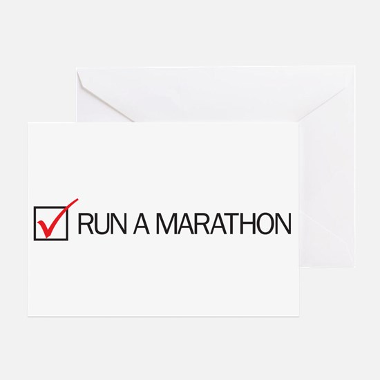 Run a Marathon Check Box Greeting Card