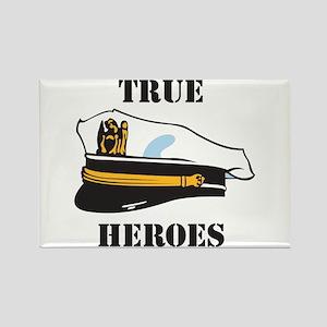 True Heros - Navy Rectangle Magnet