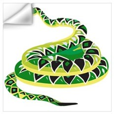 Green Snake Wall Decal
