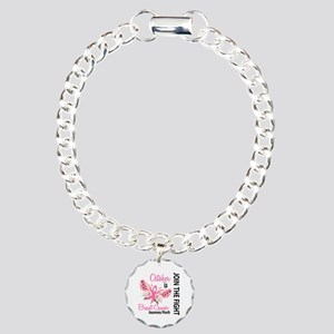 Breast Cancer Awareness Month Charm Bracelet, One