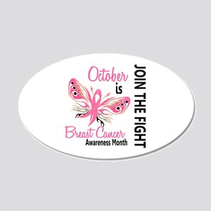 Breast Cancer Awareness Month 22x14 Oval Wall Peel