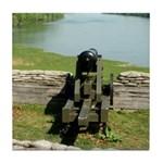 Fort Donelson Lower Battery Cannon Tile Coaster
