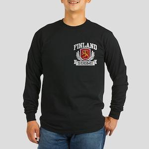 Finland Suomi Long Sleeve Dark T-Shirt