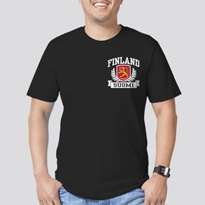 Finland Suomi Men's Fitted T-Shirt (dark)