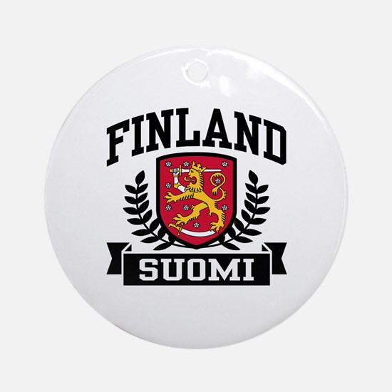 Finland Suomi Ornament (Round)