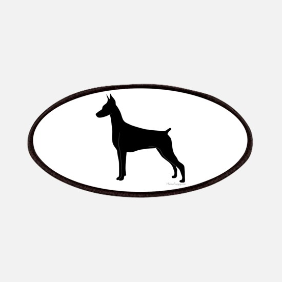 Doberman Silhouette Patches