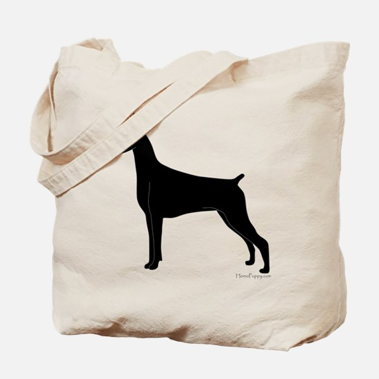 Doberman Silhouette Tote Bag