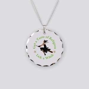 A Taste of Religion Necklace Circle Charm