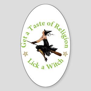 A Taste of Religion Sticker (Oval)