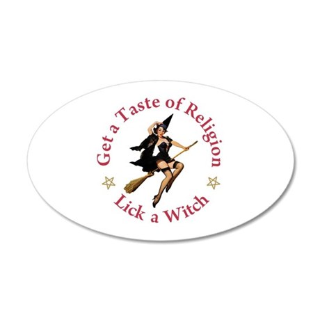 Get A Taste of Religion 20x12 Oval Wall Decal