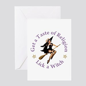 Get A Taste of Religion Greeting Card