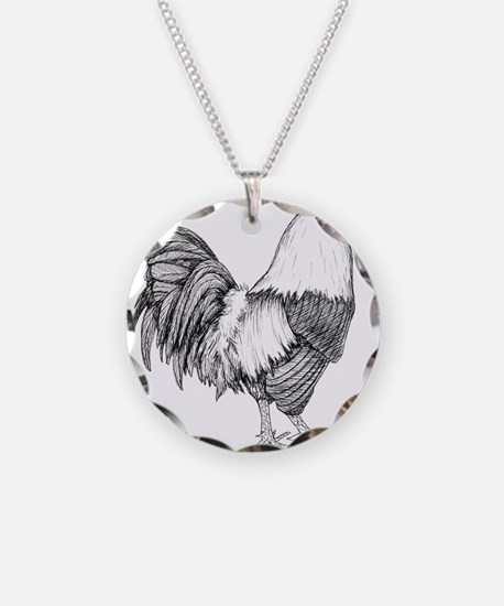 Rooster Drawing Necklace