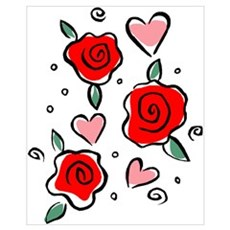 Hearts and Roses Poster