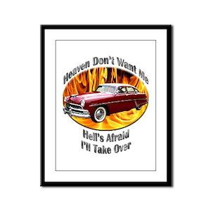 Hudson Hornet Framed Panel Print