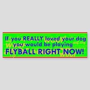 Flyball Guilt Trip Sticker (Bumper)