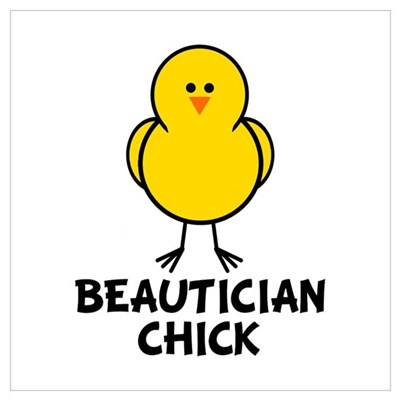 Beautician Chick Canvas Art